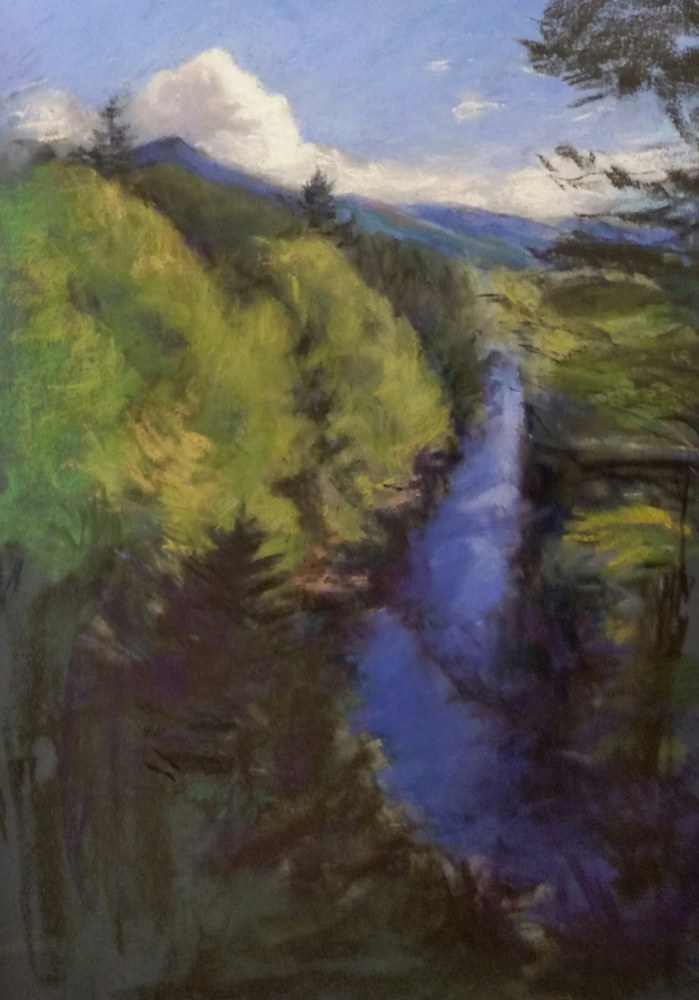Ausable River Summer 16x24 pastel  by Michael  Gaudreau