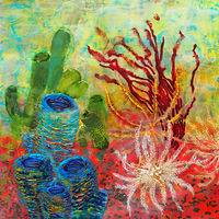 Painting Crinoids by Michele Barnes