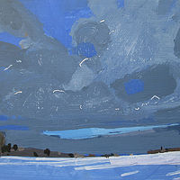 Acrylic painting 2:00 p.m., January 3 by Harry Stooshinoff