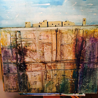 Mixed-media artwork Cliff Dweller by Steve Latimer