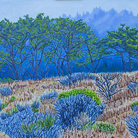Oil painting Blue Mist by Crystal Dipietro