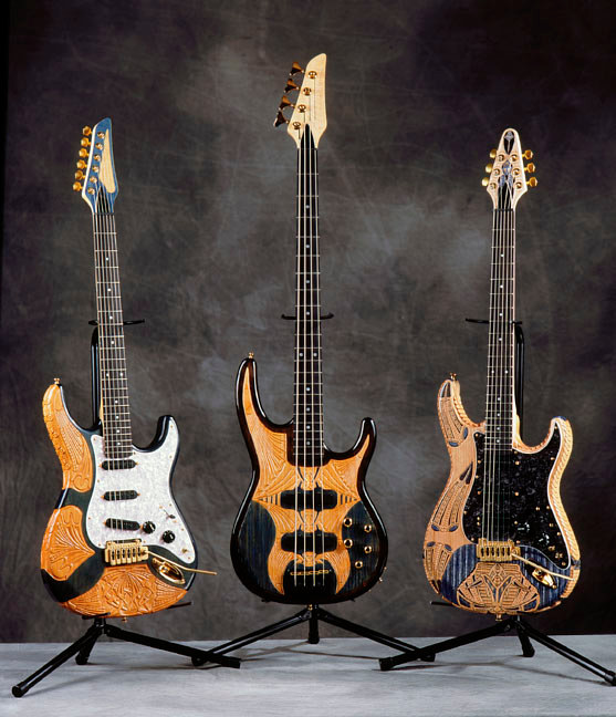 CRAZY CARVED GUITARS by Jeff Grassie