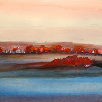 Mixed-media artwork North Carolina - Sand Hills by Steve Latimer