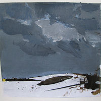 Acrylic painting Hillock, January 8 by Harry Stooshinoff