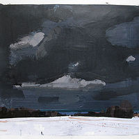 Acrylic painting Squalls, Lake Ontario by Harry Stooshinoff