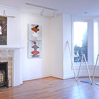 Studio Gallery, Installation View, + Rik Rak with sketchbooks  by Judy Southerland