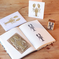 Lobster - Bespoke Rubber Stamp by ROSE WILLIAMS