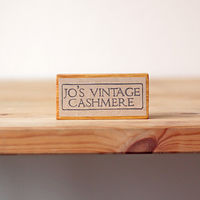 Jo's Vintage Cashmere - Bespoke Rubber Stamp by ROSE WILLIAMS