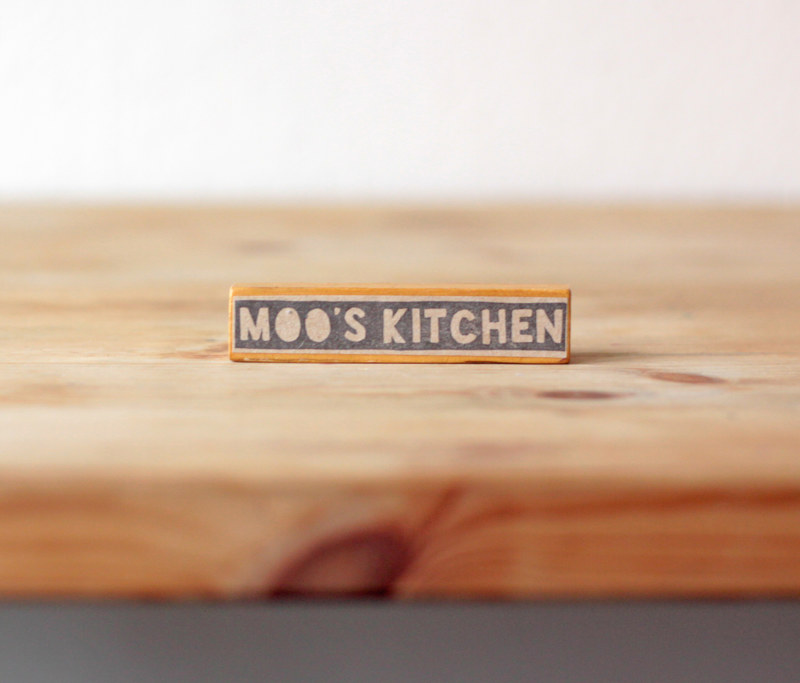 Moo's Kitchen - Bespoke Rubber Stamp by ROSE WILLIAMS