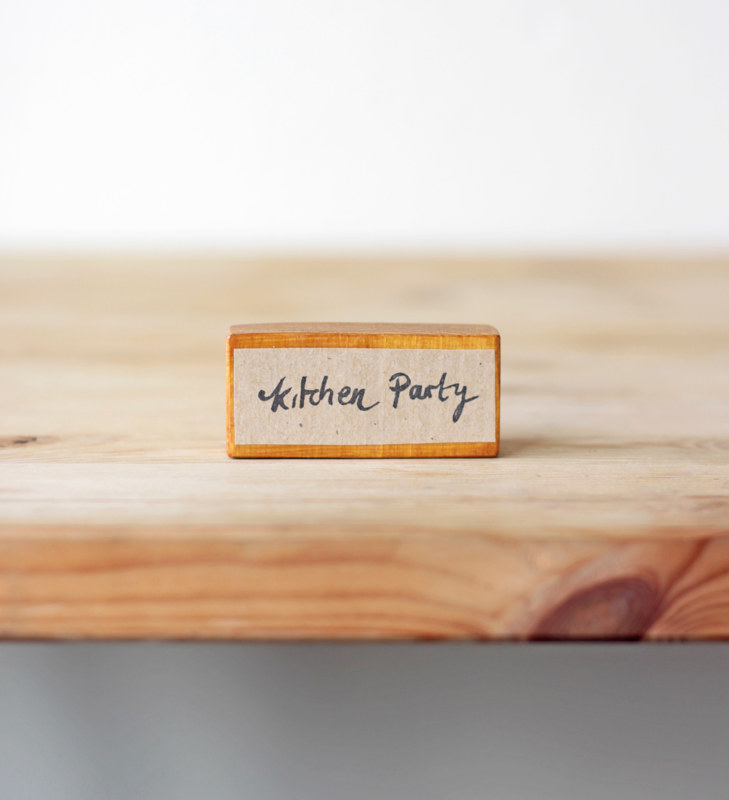 Kitchen Party - Bespoke Rubber Stamp by ROSE WILLIAMS