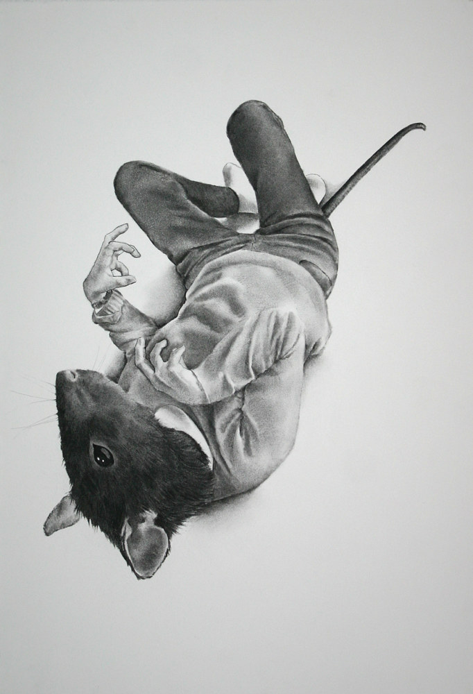 Drawing Death of Ratscina Redux by Ellen Cornett