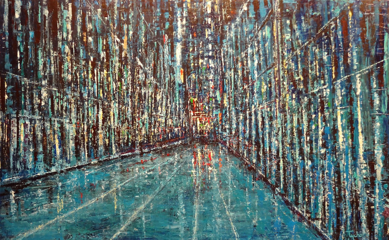 Acrylic painting Corridor by David Tycho