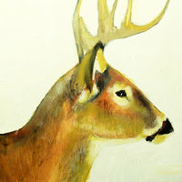 Oil painting Oh, Deer! #2, 2015 by Edith dora Rey