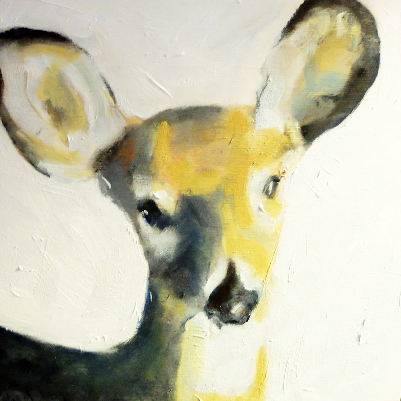 Oil painting Oh, Deer! #1, 2015 by Edith dora Rey