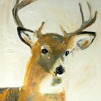 Oil painting Oh, Deer!#5, 2015 by Edith dora Rey