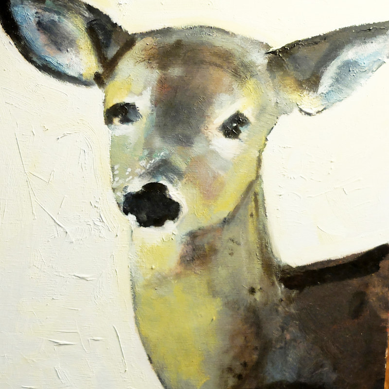 Oil painting Oh, Deer! by Edith dora Rey