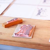 Bespoke Rubber Stamp - from an old photograph by ROSE WILLIAMS