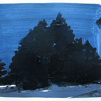 Acrylic painting Cedars at Dusk by Harry Stooshinoff
