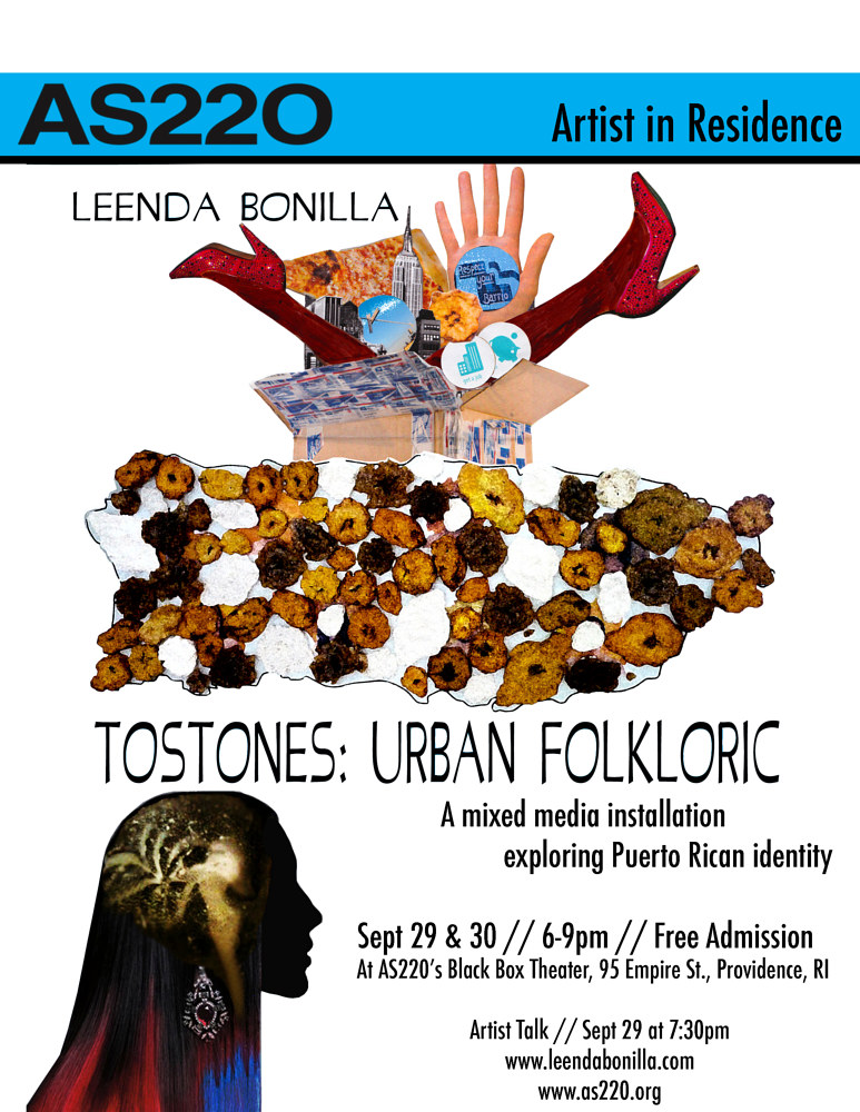 As220 Tostones Flyer by Leenda Bonilla