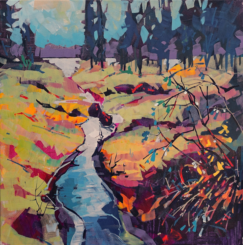 Summer Feeling  Acrylic 24x24 2016.jpg2 by Brian  Buckrell