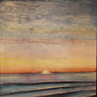 Mixed-media artwork Seagrove  by Steve Latimer