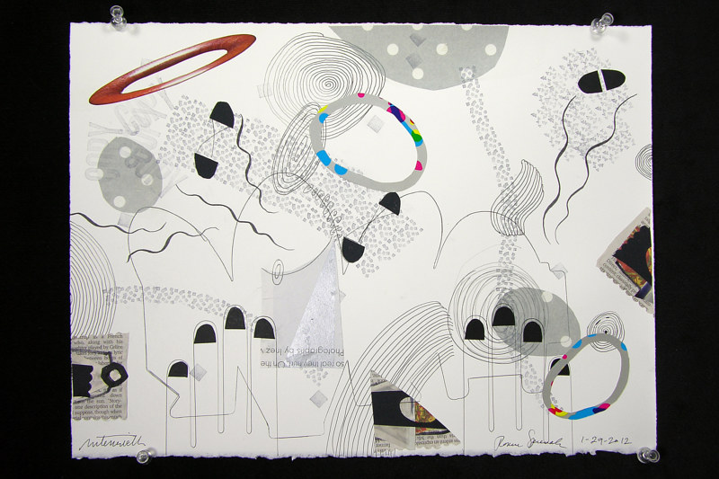 Drawing Untitled 1-29-12 by Pat Autenrieth