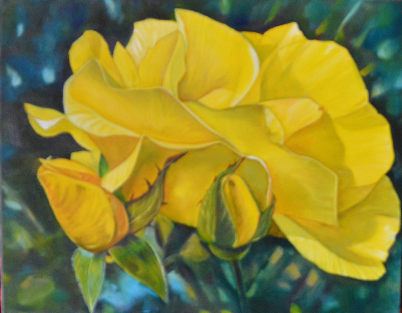 Yellow Rose for my Mother by Bev Robertson