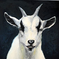 Oil painting The Little Nigerian Goat Who Lives Across the Chemin, 2016 by Edith dora Rey