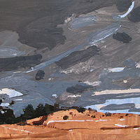 Acrylic painting Lost Dog Hill, February 1 by Harry Stooshinoff
