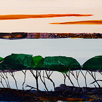 Mixed-media artwork Mangroves by Steve Latimer