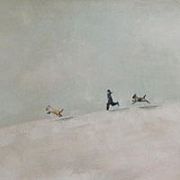 Acrylic painting Snow Day by Sally Adams
