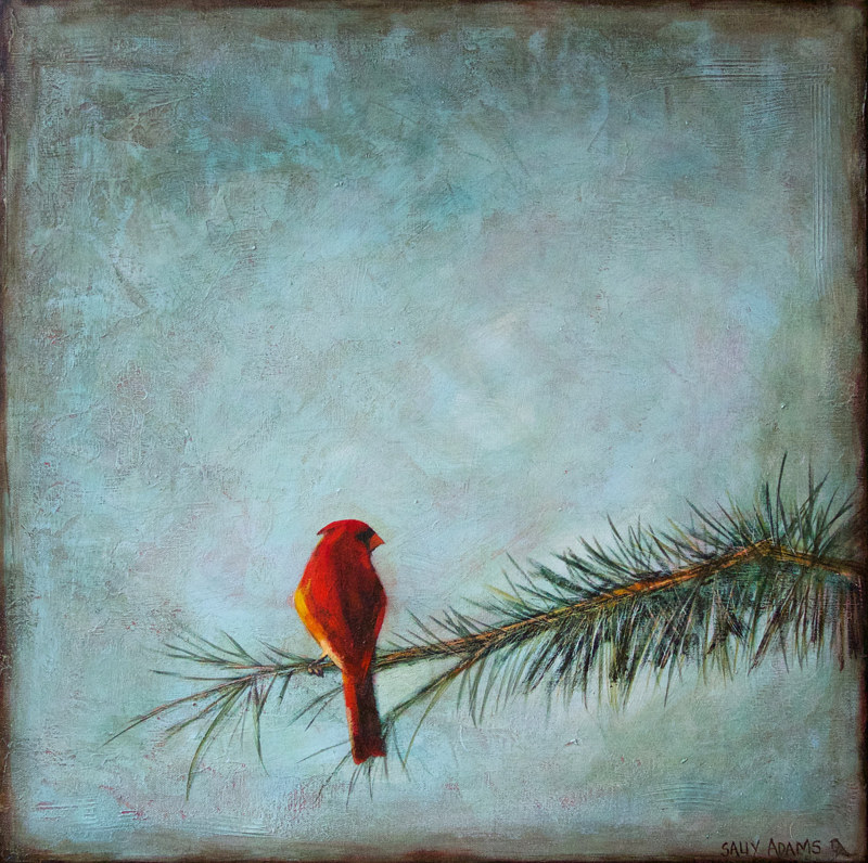 Acrylic painting Introspective by Sally Adams
