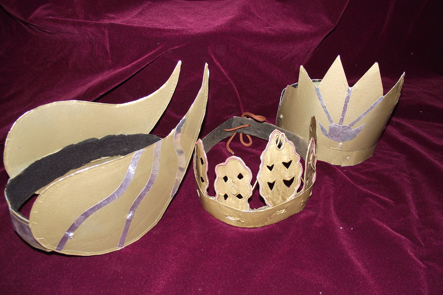 Crowns created from sheet metal by Kathryn Cover