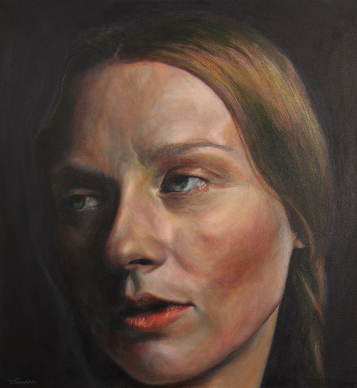 Acrylic painting Ann Sophie by David Yawman