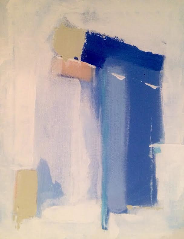 Acrylic painting Blue Streak by Sarah Trundle