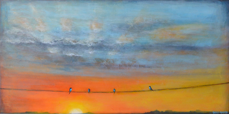 Acrylic painting Desert Son by Sally Adams