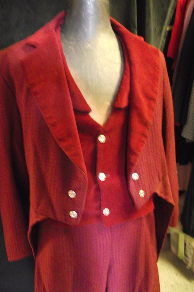 "Mens suit built for ""Nicholas Nickleby"" flat patterned by Kathryn Cover"