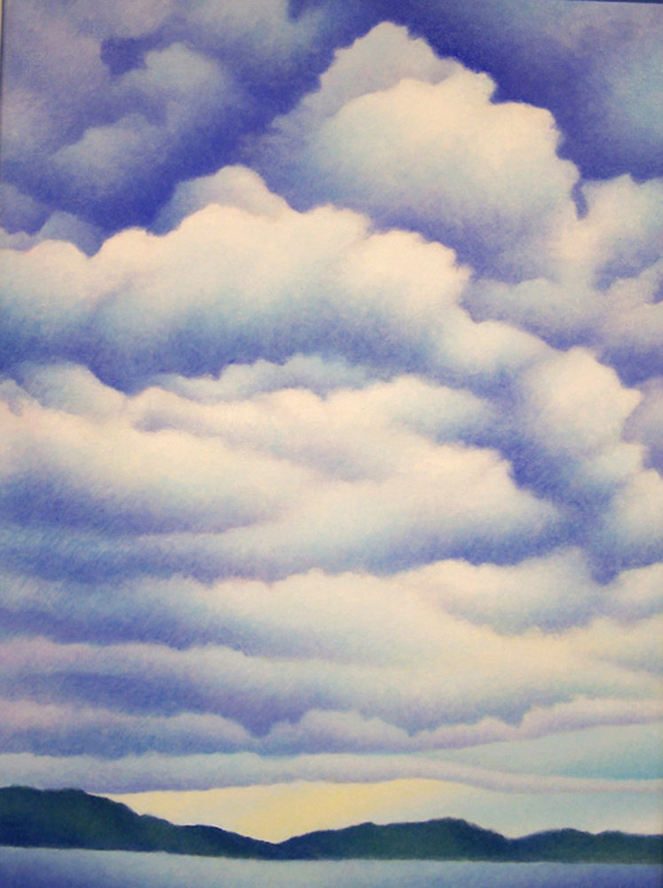 Acrylic painting Summer Sky by Anne Popperwell