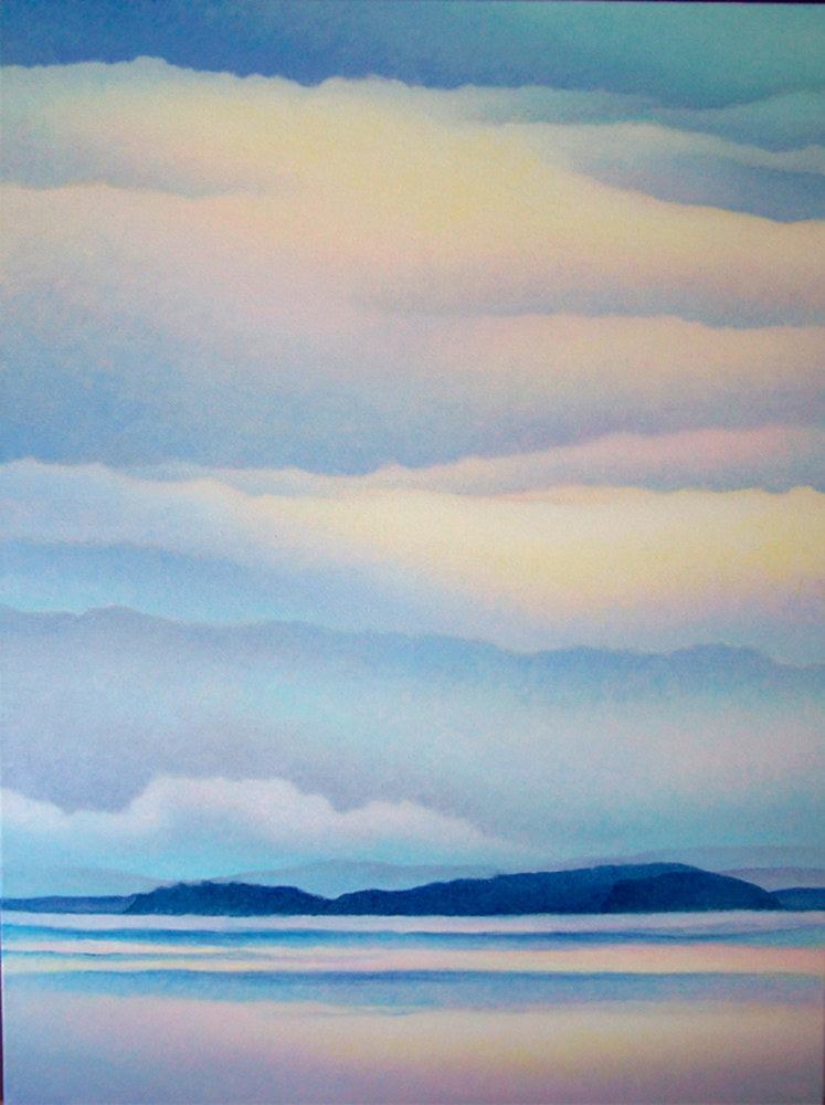 Acrylic painting Island Sky  by Anne Popperwell