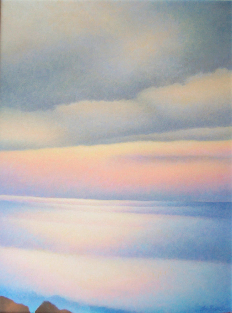 Acrylic painting Early Evening by Anne Popperwell