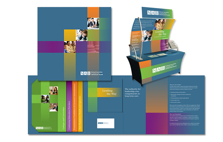NAB collateral material and trade show booth by Robert Porazinski