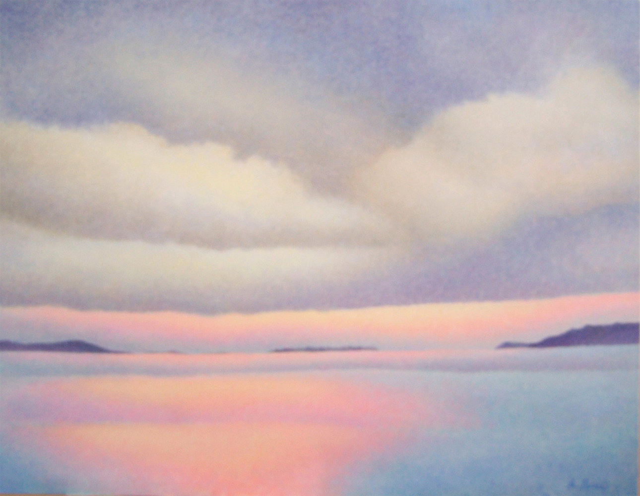 Acrylic painting Dawn by Anne Popperwell