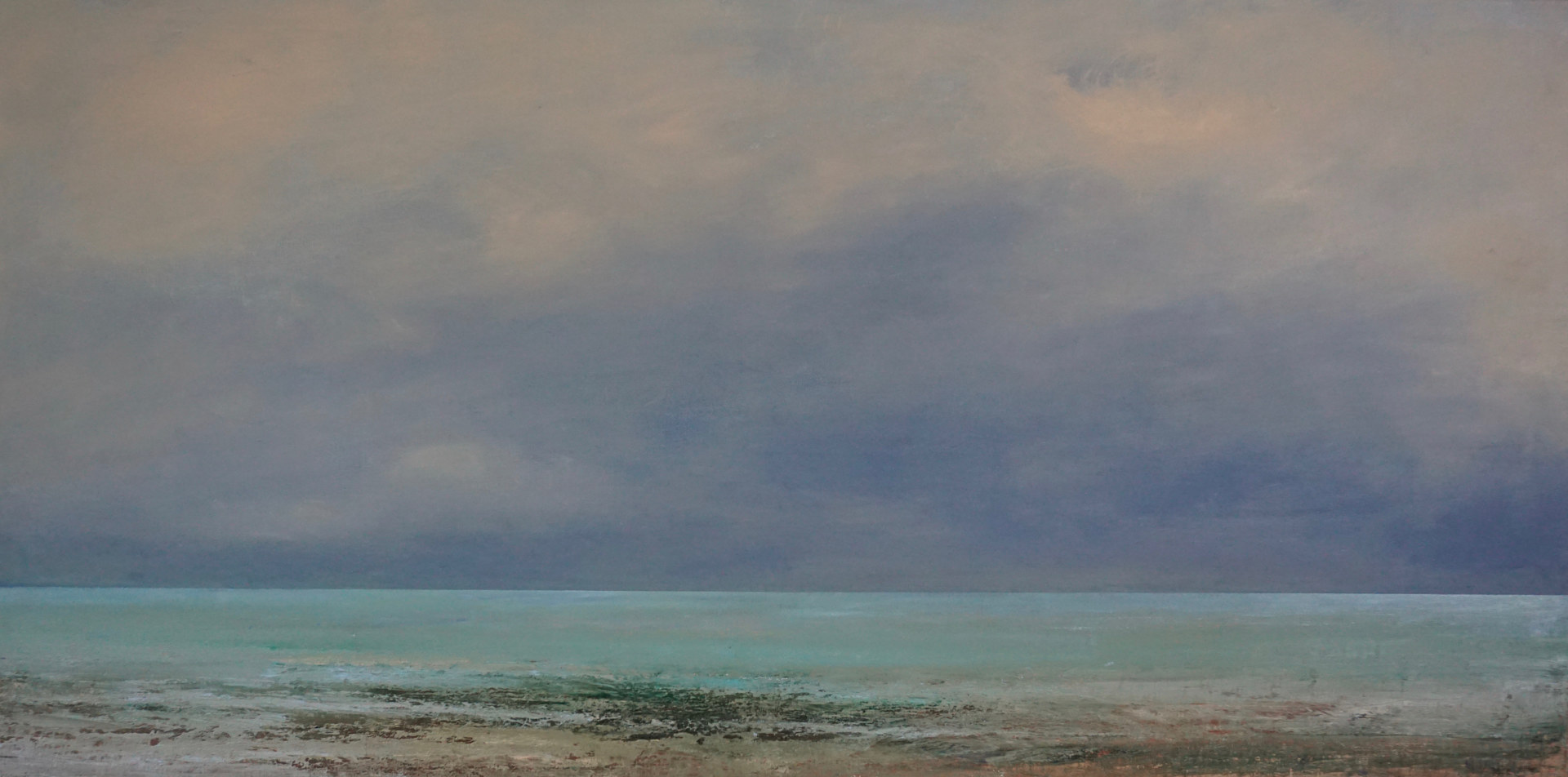 Oil painting Calm Before the Storm  by Nella Lush
