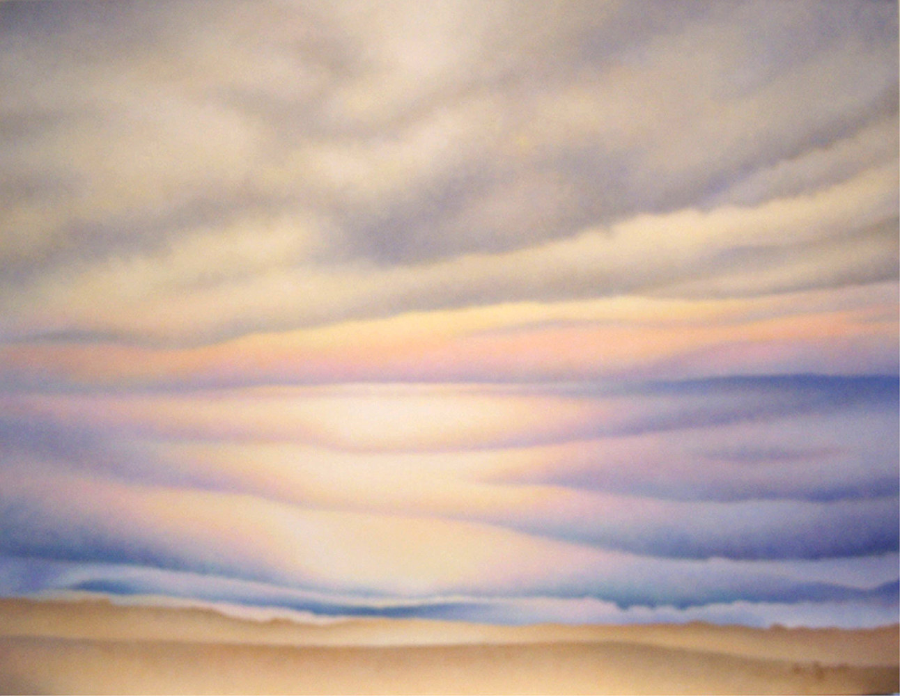 Acrylic painting Memory of Light by Anne Popperwell