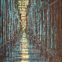Acrylic painting Blue Alley #1 by David Tycho