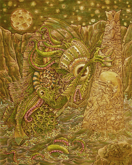 "Acrylic painting ""Dagon"" by Kenneth M Ruzic"