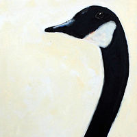 Oil painting The Mr. + Mrs. Vale Perkins Canada Goose #2 , 2016 by Edith dora Rey