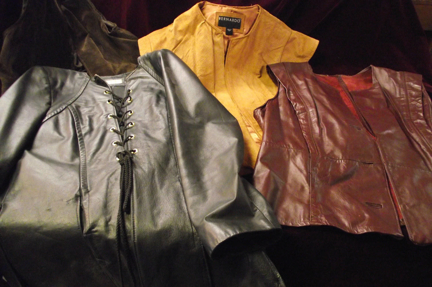 Ren, doublets and vests from mens leather coats. by Kathryn Cover