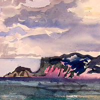 Watercolor Alonissos by Michael Shyka