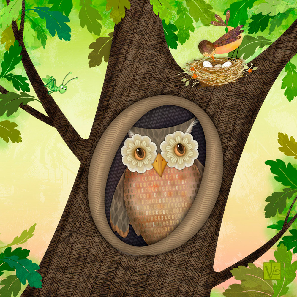 O is for Owl  by Valerie Lesiak